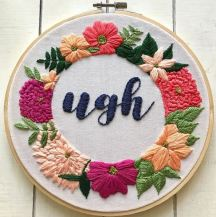 You can visit her Etsy shop to buy the Kit or PDF pattern of this hoop