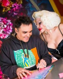 David at his NYC book signing with Amanda Lepore
